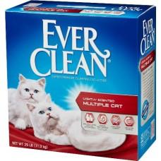 Ever Clean Multiple Cat - наполнитель комкующийся для туалета кошек с гранулами силикагеля