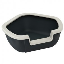 Ferplast Toilet Litter Tray DAMA - угловой открытый туалет для кошек (57,5 x 51,5 x 22 cm)