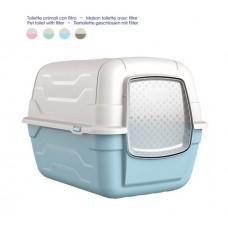 Georplast Roto Toilet - Закрытый туалет для кошек с фильтром и лопаткой (52x40x40 см)