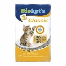 Biokat's Classic 3in1 - комкующийся наполнитель для кошачьего туалета