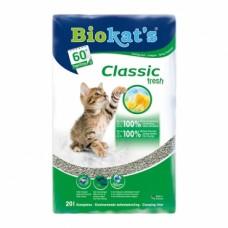 Biokat's Classic Fresh 3in1- комкующийся наполнитель для кошачьего туалета