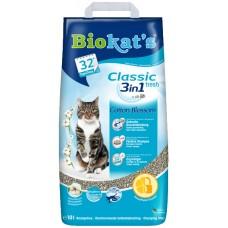 Biokat's Classic Fior de Cotton 3in1 - комкующийся наполнитель для кошачьего туалета с нежным ароматом хлопка
