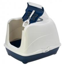 Moderna Flip Cat - закрытый туалет с откидной крышкой для котов, (58х45х42 см)