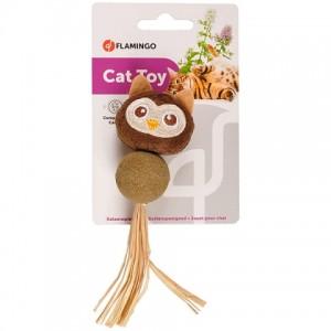 Мяч для котов-исследователей из прессованной кошачьей мяты «Flamingo Catnip Owl» - обеспечит часы развлечений и активности вашему питомцу: Читать далее!