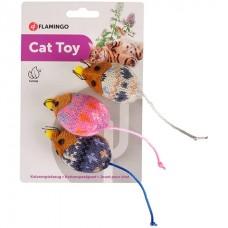Flamingo Mohaire Mouse - игрушка с кошачьей мятой для котов
