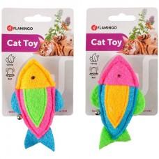 Flamingo Viny Fish With Bell - игрушка с кошачьей мятой для котов