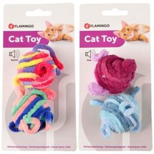 Мяч для игр котов и кошек всех пород и возрастов «Flamingo Woolen Balls» - универсален, особенно полезный для котят и молодых котов: Читать далее!