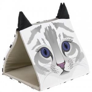 Ferplast Tunnel House Pyramid - хлопковый домик для кошек (43 x 39 x 38 cm)
