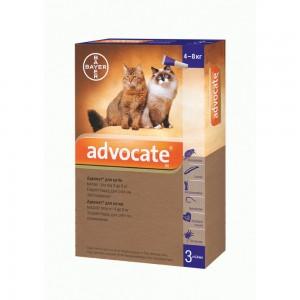 Bayer Advocate (Адвокат) Средства защиты для кошек / антигельминтный препаратам
