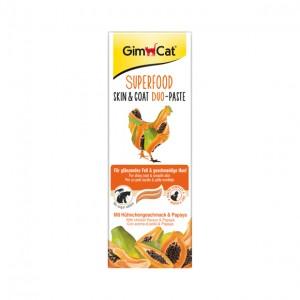 GimCat  Superfood Skin and Coat Duo-Paste паста для кожи и шерсти с курицей и папайей