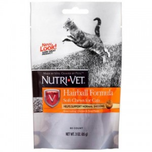 Nutri-Vet (Нутри-Вет) «ВЫВЕДЕНИЕ ШЕРСТИ» комплекс для профилактики образования комков шерсти в желудке кота, мягкие таблетки