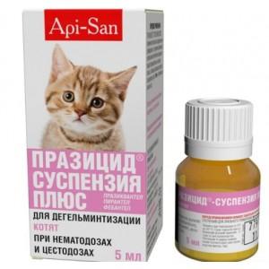 Api-San ПРАЗИЦИД-СУСПЕНЗИЯ СЛАДКАЯ для котят