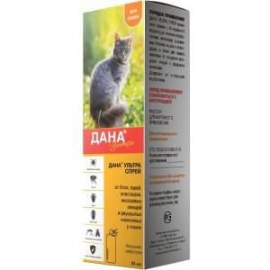 Дана Ультра cпрей для защиты кошек от нападения иксодовых клещей и двукрылых насекомых | Api-San | PetPlus