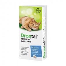 Bayer Drontal Cat - антигельмитное средство широкого спектра для кошек на 4 кг веса