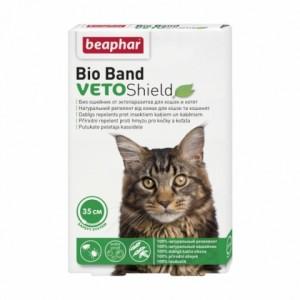 Противопаразитарный биологический ошейник на травах Beaphar VETO Shield Bio Band для кошек и котят, 35 см. | Petplus