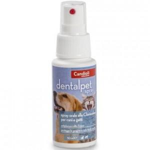 Спрей по уходу за ротовой полостью у собак и кошек «Кандиоли ДенталПет Спрей» | Candioli Dental Pet Spray: укрепляет эмаль зубов, предотвращает размножение бактерий | страна - производитель Италия | Petplus