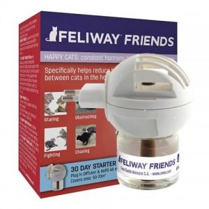 Ceva Feliway «Феливей» Diffuser Friends - препарат снижает конфликты и устраняет напряжение между кошками при групповом содержании  / диффузор + флакон (48 мл)