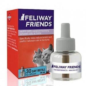 Ceva Feliway «Феливей» Friends Bottle Refill for Diffuser - cменный флакон с феромонами для снижения уровня агрессии и конфликтов между кошками