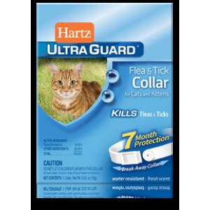 Hartz UltraGuard Flea and Tick Collar for Cats and Kittens ★ Ошейник от блох и клещей для кошек и котят на 7 месяцев
