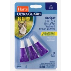 Hartz ULTRA GUARD One Spot Treatment for Cats and Kittens - капли для кошек от личинок и яиц блох