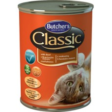 Butcher`s (Бутчерс) Cat Classic With Beef - консервы для кошек / говядина