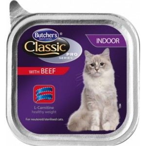 Butcher's (Бутчерс) Classic Pro Series Indoor With Beef Pate - консервы для кошек / говядина