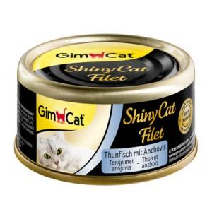 Gimcat ShinyCat Filet консервы для кошек  Тунец с анчоусами
