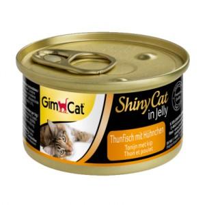 Gimpet ShinyCat Cat - Консервы с тунцом и курицей для кошек