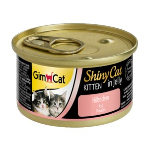 Gimpet ShinyCat Kitten курица консервы для котят 70г