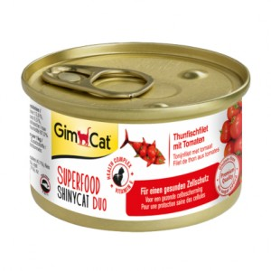 GimCat Superfood Shiny Cat Duo Tuna & Tomatoes с тунцом и томатами влажный корм для кошек