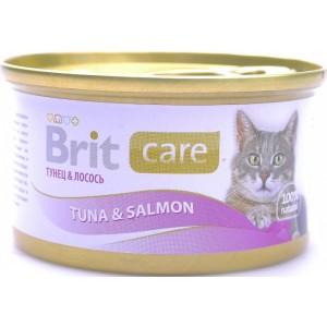 Brit Care Cat Tuna & Salmon ★ консервы для кошек / тунец с лососем