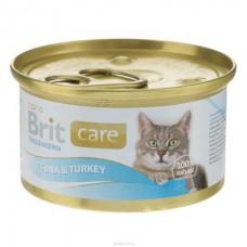 Brit Care Cat Tuna & Turkey ★ мясные консервы для кошек с тунцом и индейкой