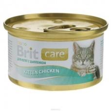 Brit Care Cat Kitten Chicken ★ консервы для котят ● цыпленок