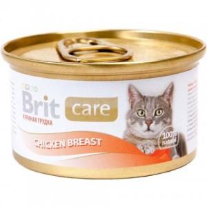 Brit Care Cat Chicken Breast влажный корм для взрослых кошек / курица