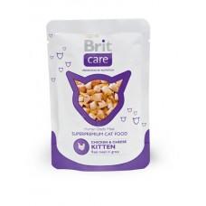 Brit Care Cat Chicken & Cheese KITTEN Pouch ☆ для котят с курицей и сыром / паучи