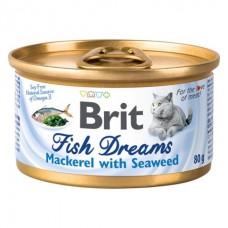 Brit Fish Dreams Cat Mackerel & Seaweed - влажный корм для кошек (скумбрия и водоросли)