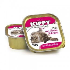 Влажный корм для кошек: паштет из мяса лосося «Kippy Cat Salmon Pate» | Консервы для кошек из Италии: Киппи | Petplus