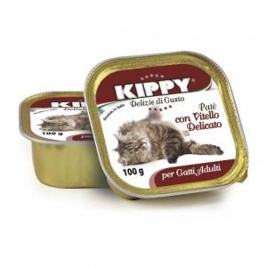 Влажный корм для кошек: паштет из телятины «Kippy Cat Veal Pate» | Консервы для кошек из Италии: Киппи | Petplus
