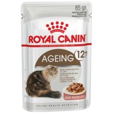 Royal Canin Ageing +12 -  Полнорационный влажный корм для кошек старше 12 лет (измельченные кусочки в соусе)