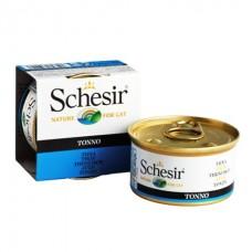 Schesir Tuna - влажный корм консервы для кошек, банка