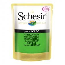 Schesir Chicken Fillet - влажный корм консервы для кошек, пауч