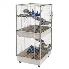 Ferplast Cage Furet Tower Grey - двухэтажная клетка для хорьков (75 x 80 x h-161 cm)