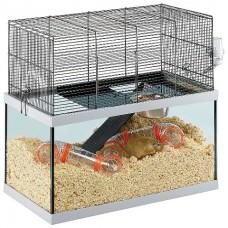 Ferplast Cage Gabry 60 - стеклянная клетка для крыс и мышей (60 x 31,5 x h-52 cm)