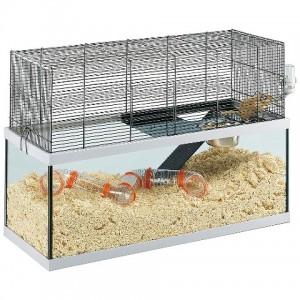 Ferplast Cage Gabry 80 - стеклянная клетка для крыс и мышей (79 x 30,5 x h-51,4 cm)