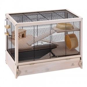 Ferplast Cage Hamsterville Black - деревянная клетка для хомяков (60 x 34 x h-49 cm)