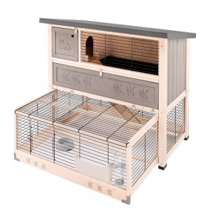 Ferplast Cage Ranch 120 MAX - двухэтажная деревянная клетка для кроликов (117 x 69 x h-107 cm)