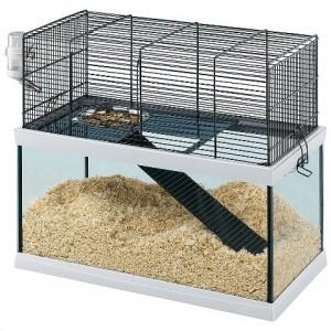 Ferplast Gabry 50 - стеклянная клетка для песчанок (52 x 27 x h 44 cm)
