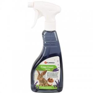 Средство с запахом лаванды для мытья клетки грызунов «Flamingo Clean Spray Lavender» - эффективная защита от запахов: читать далее