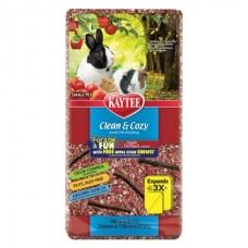 Kaytee Clean&Cozy Apple Orchard - подстилка для грызунов, целлюлоза, с палочками для грызения, красная