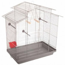 """Природа - клетка """"Нимфа"""" для средних попугаев, хром (70*40*76см)"""